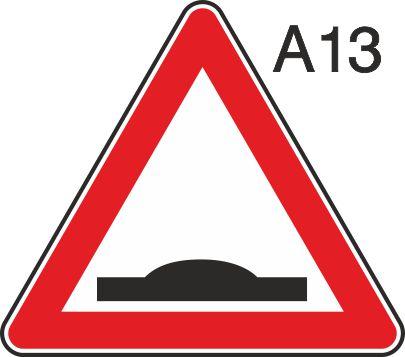 пътен знак А13 Елит