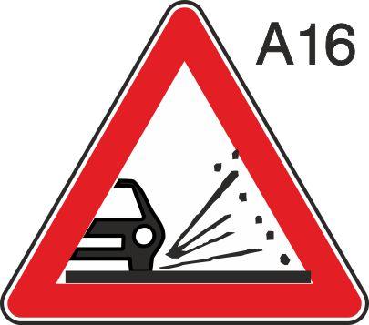 пътен знак А16 Елит
