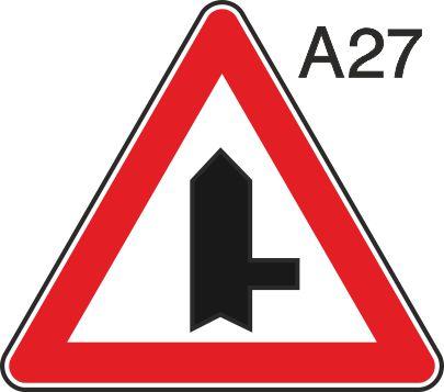 пътен знак А27 Елит