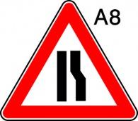 пътен знак А8 Елит
