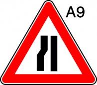 пътен знак А9 Елит